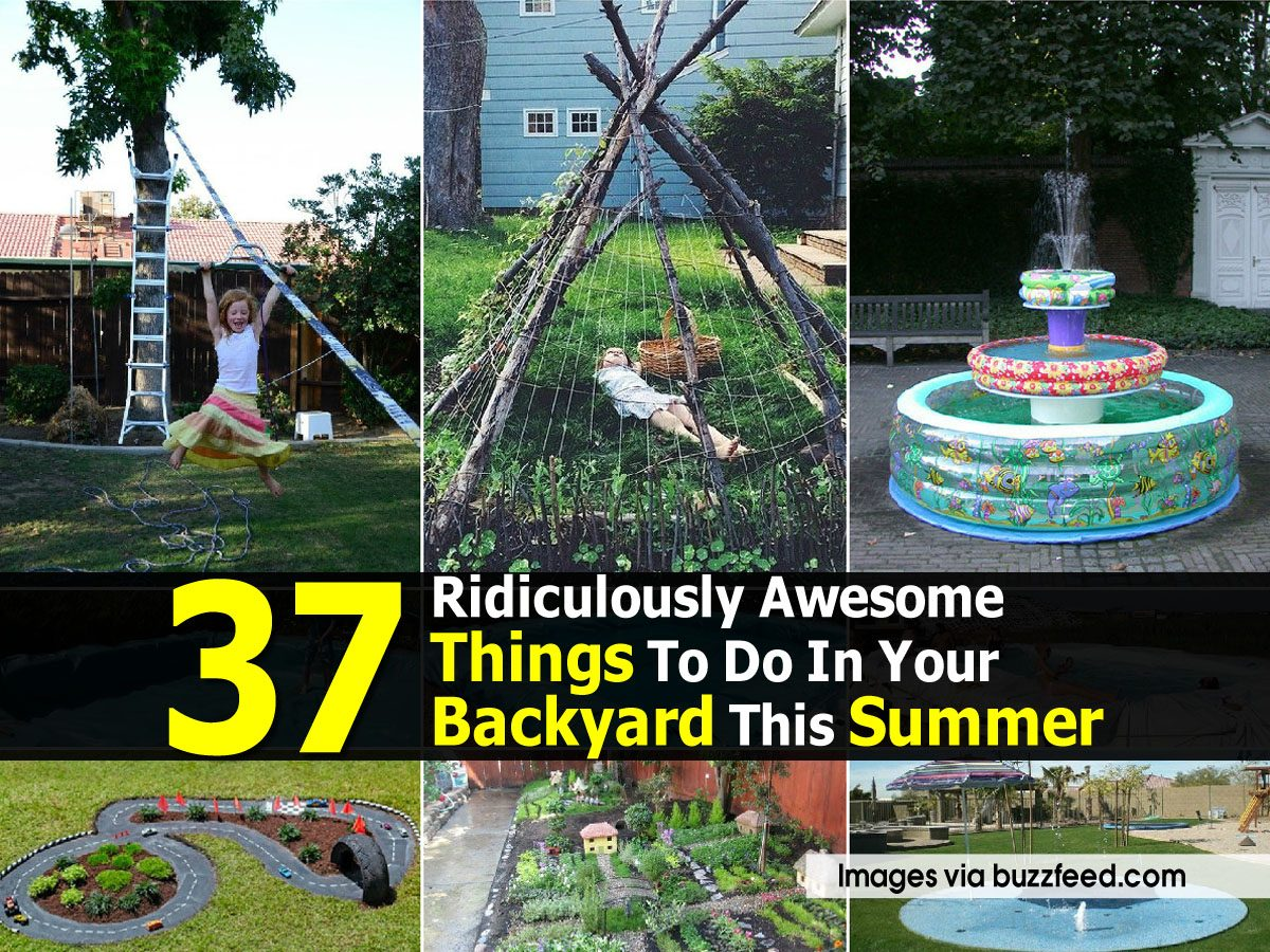 37 Ridiculously Awesome Things To Do In Your Backyard This ...