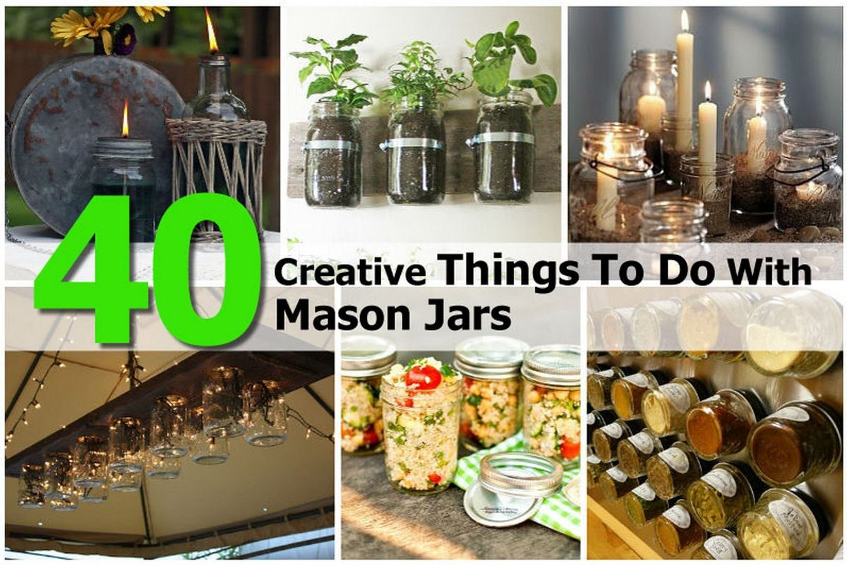 40 creative things to do with mason jars