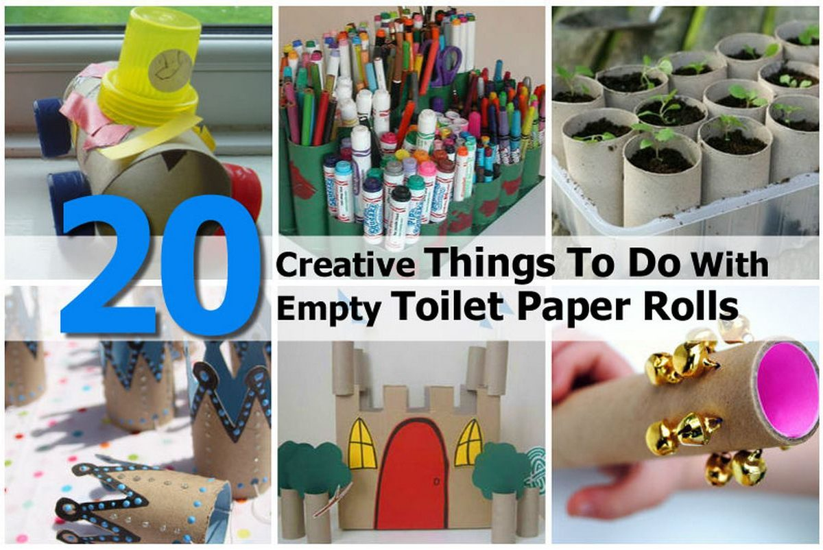 20 creative things to do with empty toilet paper rolls