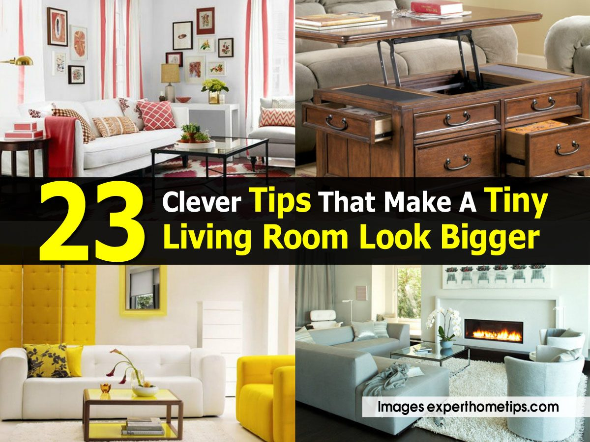 23 Clever Tips That Make A Tiny Living Room Look Bigger