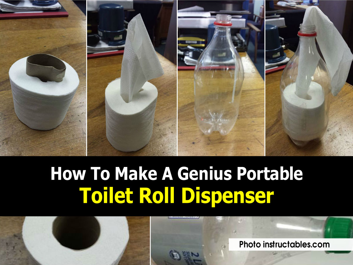 How To Make A Genius Portable Toilet Roll Dispenser