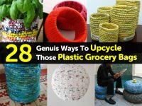 28 Genuis Ways To Upcycle Those Plastic Grocery Bags