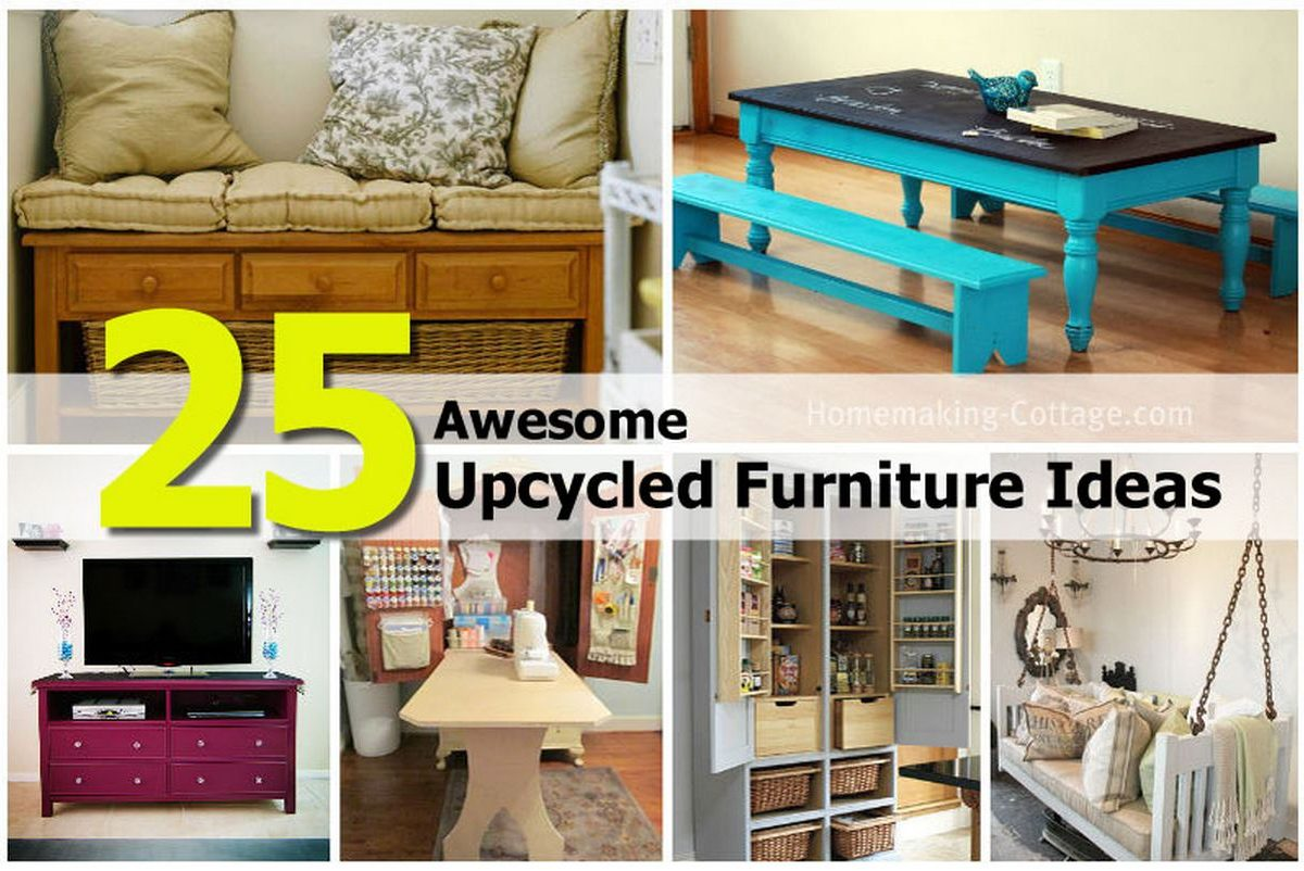 25 Awesome Upcycled Furniture Ideas