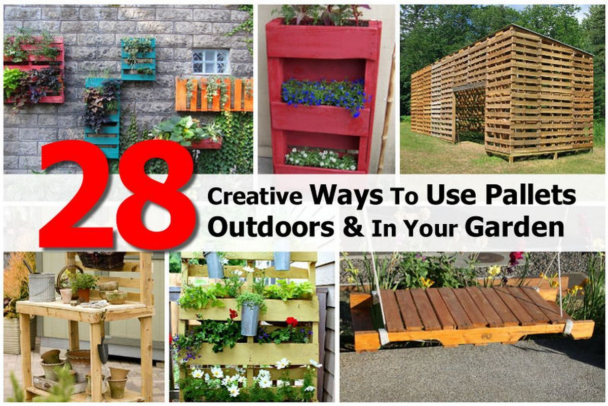28 creative ways to use pallets outdoors in your garden