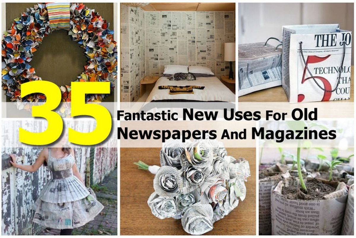 35 fantastic new uses for old newspapers and magazines. Black Bedroom Furniture Sets. Home Design Ideas