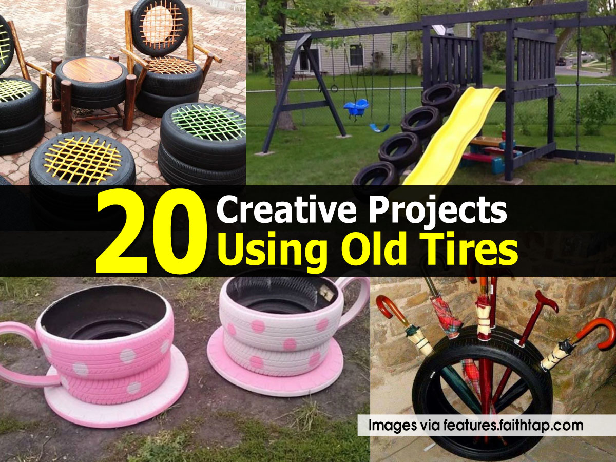 20 creative projects using old tires - Diy projects using old tires ...