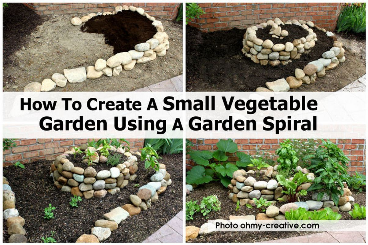 How to create a small vegetable garden using a garden spiral for Diy vegetable garden