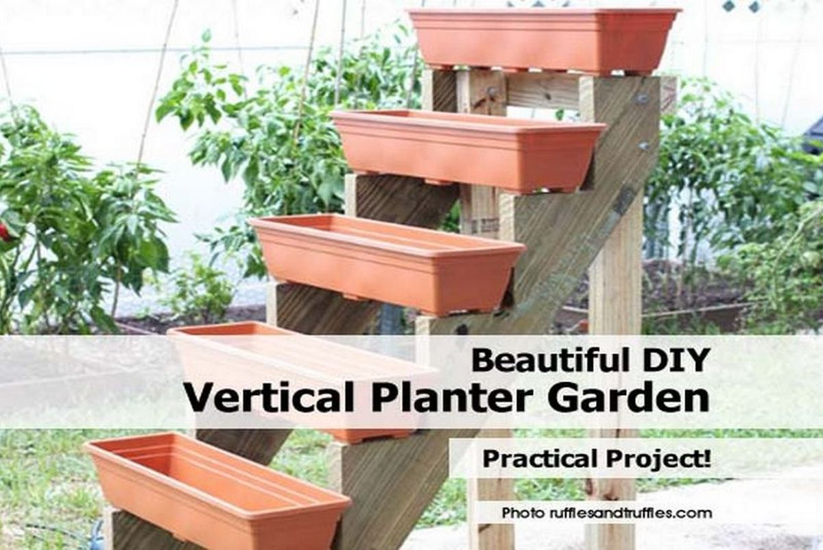Beautiful diy vertical planter garden for Vertical garden planters diy