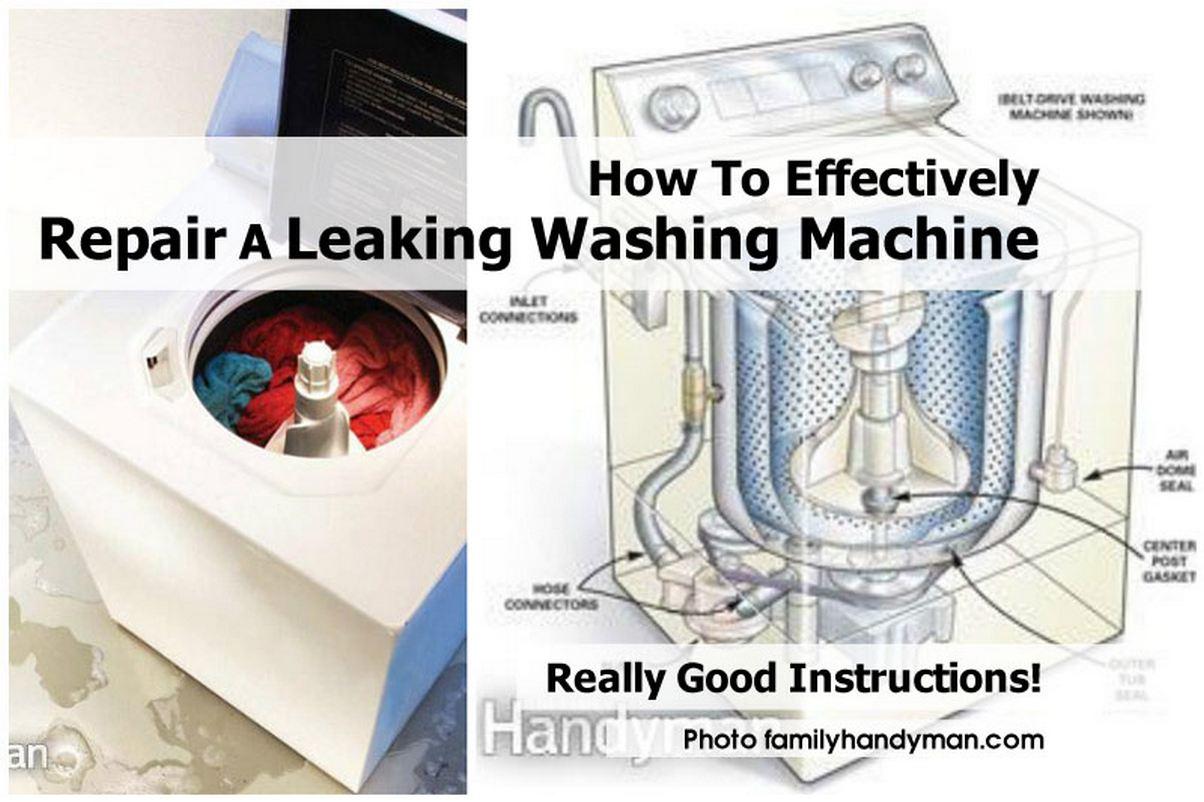 washing machine leak repair
