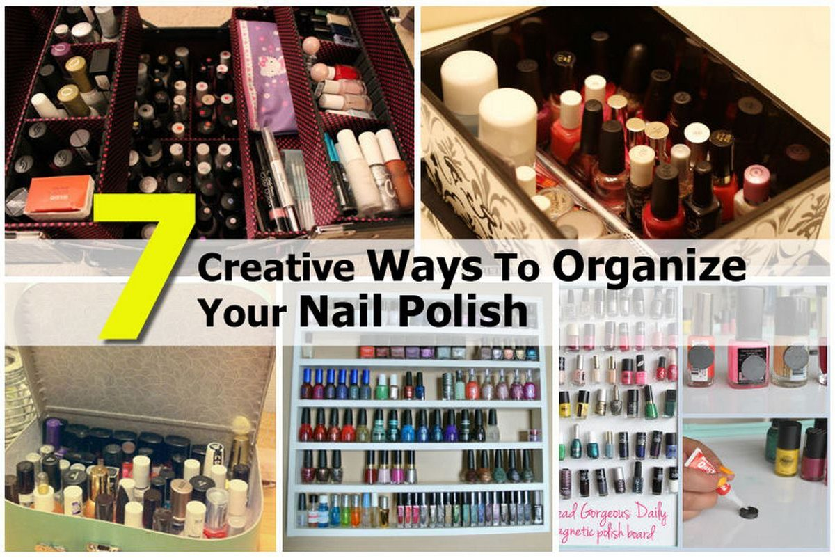7 Creative Ways To Organize Your Nail Polish