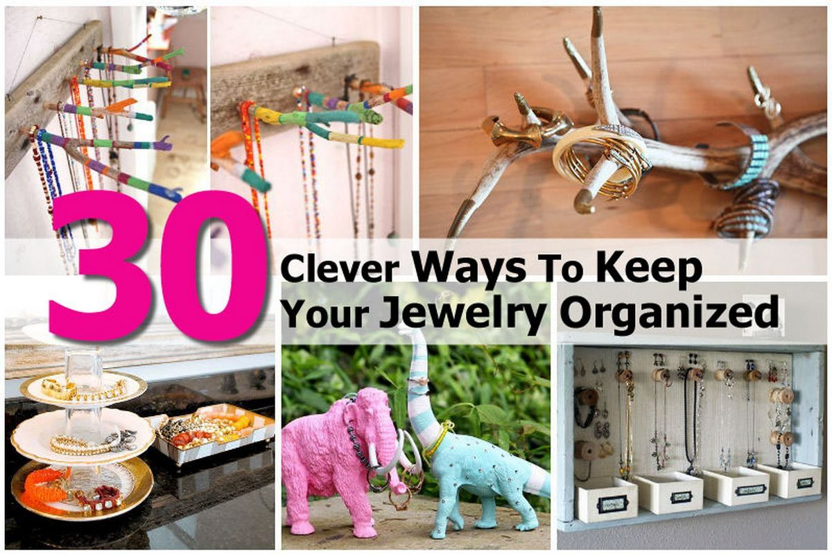 30 clever ways to keep your jewelry organized - Clever diy ways keep jewelry organized ...