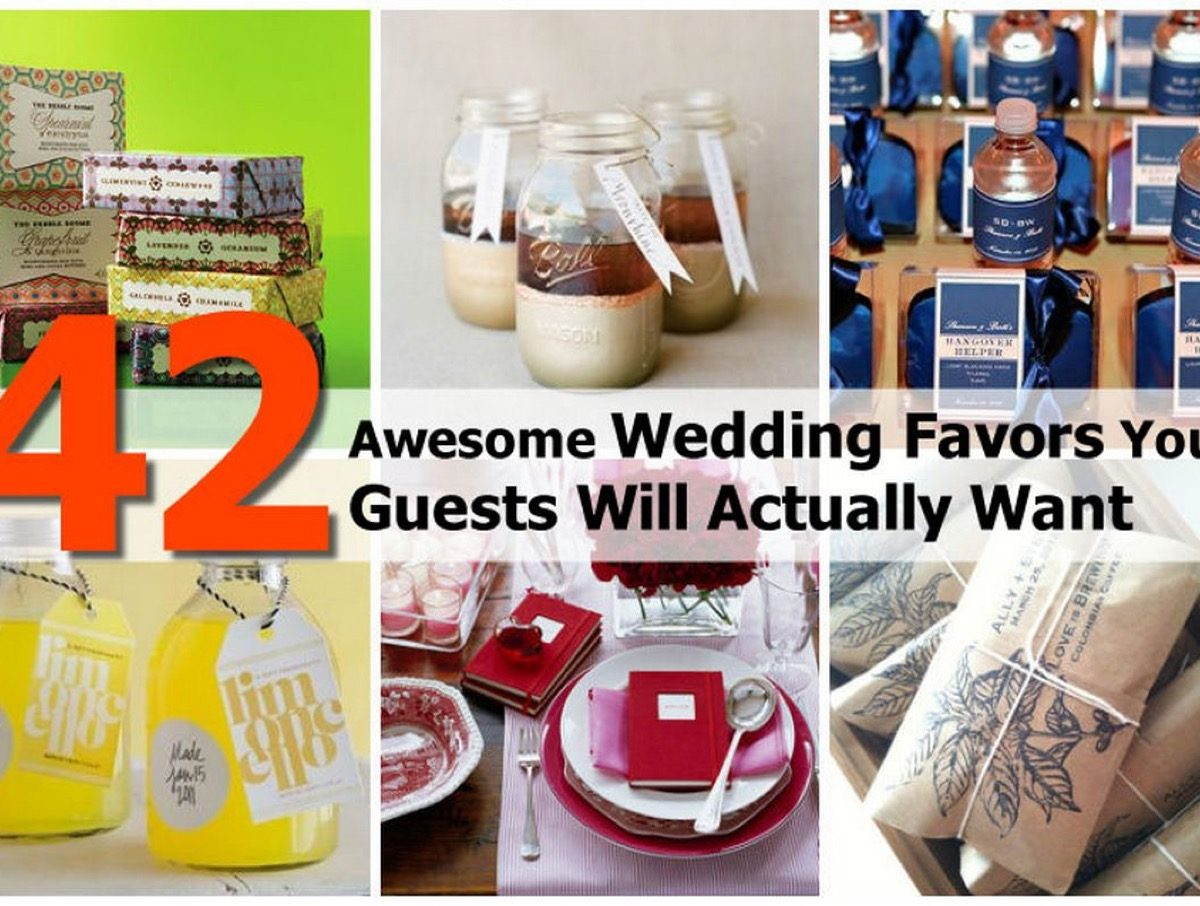 Diy Wedding Gift Ideas For Guests: 42 Awesome Wedding Favors Your Guests Will Actually Want