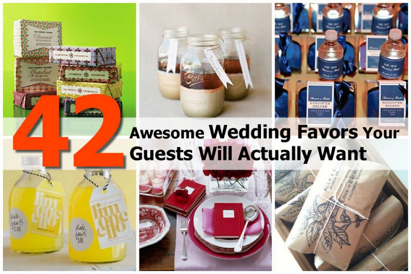 Gift For Guests At Wedding: 42 Awesome Wedding Favors Your Guests Will Actually Want