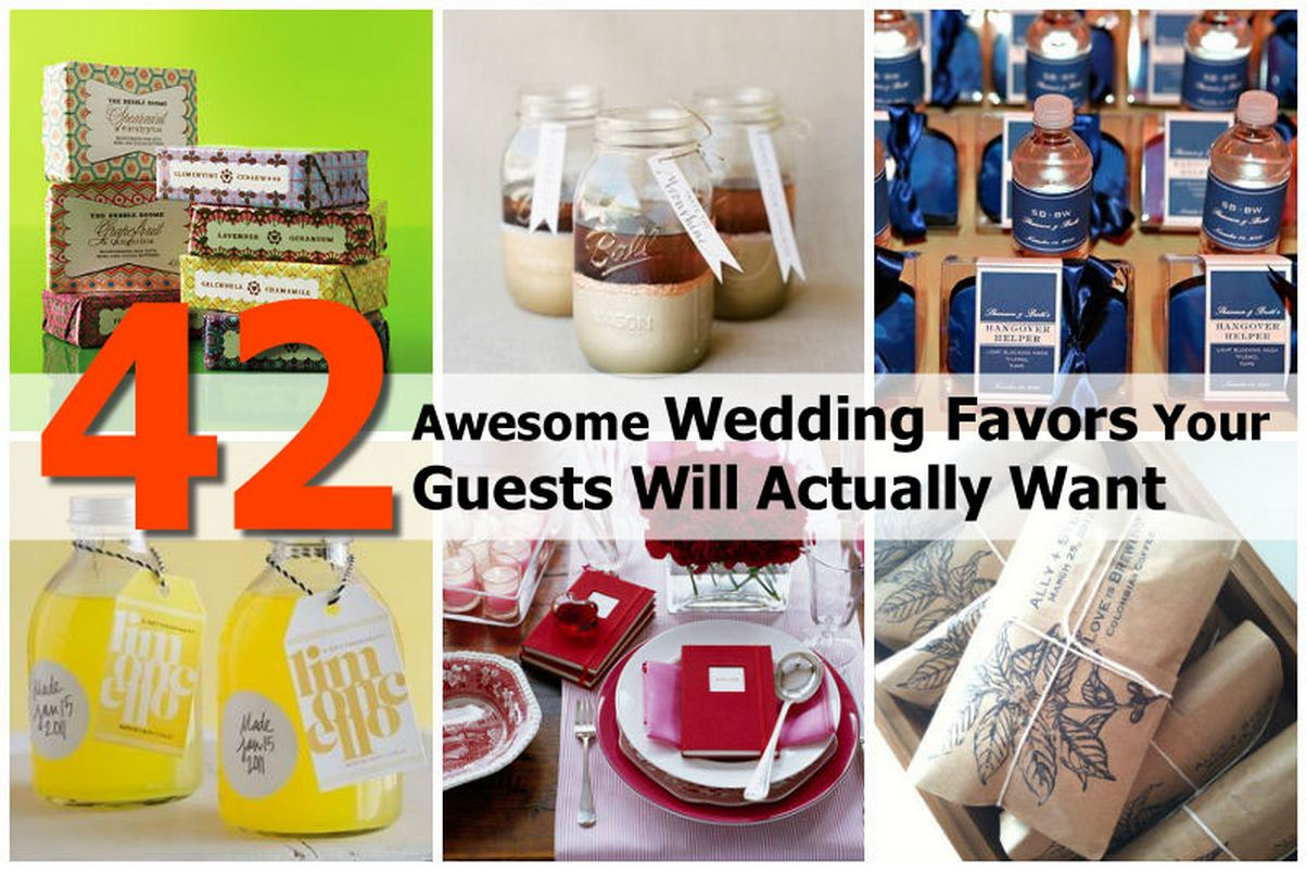42 Awesome Wedding Favors Your Guests Will Actually Want
