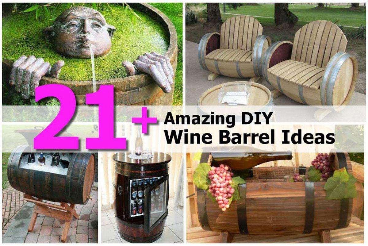 21+ Amazing DIY Wine Barrel Ideas