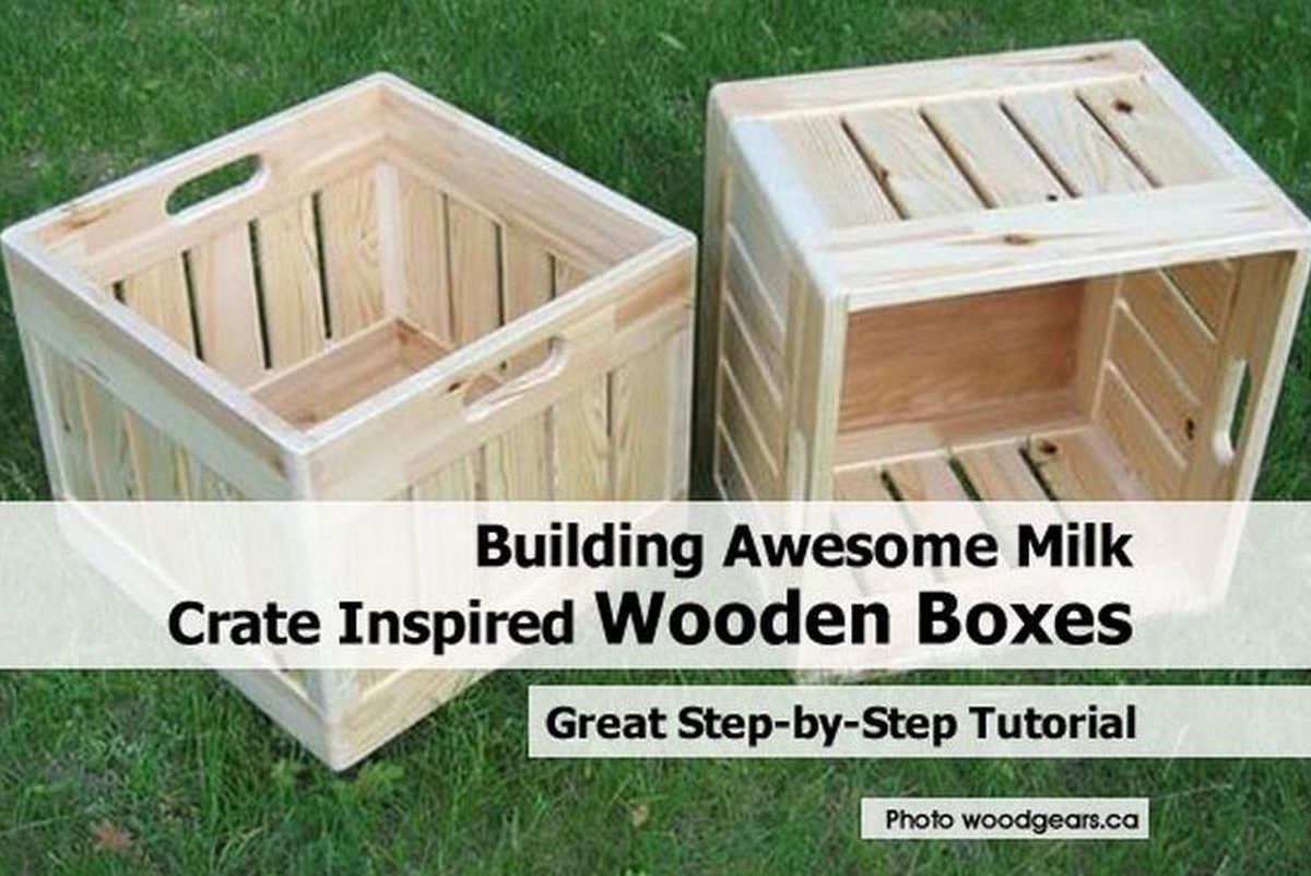 Building awesome milk crate inspired wooden boxes for Where can i buy wooden milk crates